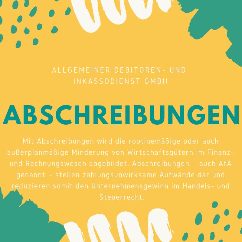Allgemeiner Debitoren- und Inkassodienst GmbH Abschreibung