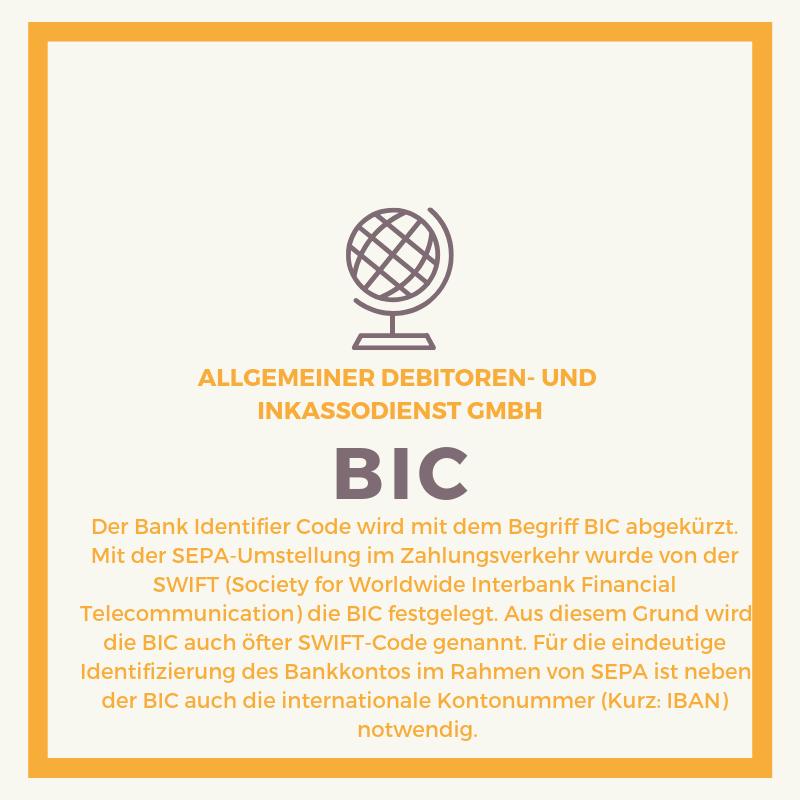 Allgemeiner Debitoren- und Inkassodienst GmbH bic
