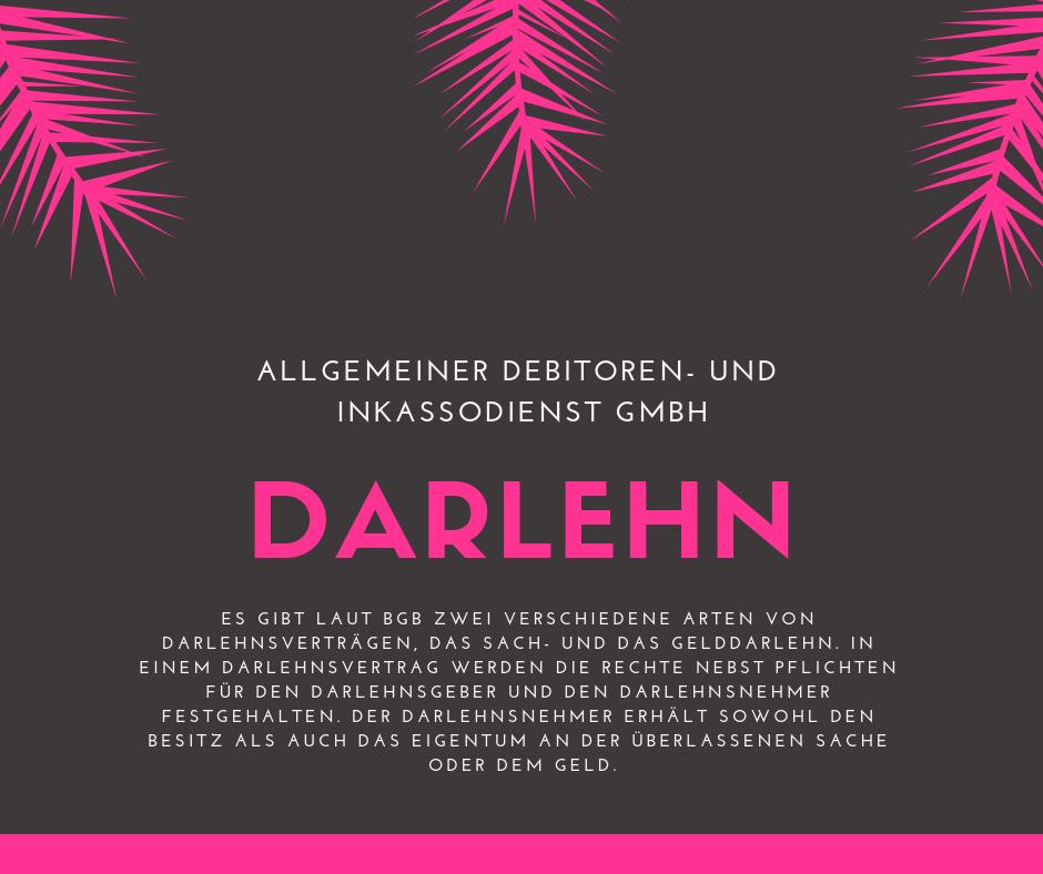 Allgemeiner Debitoren- und Inkassodienst GmbH darlehen