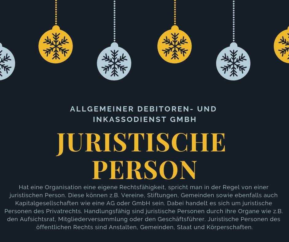 Allgemeiner Debitoren- und Inkassodienst GmbH juristische person