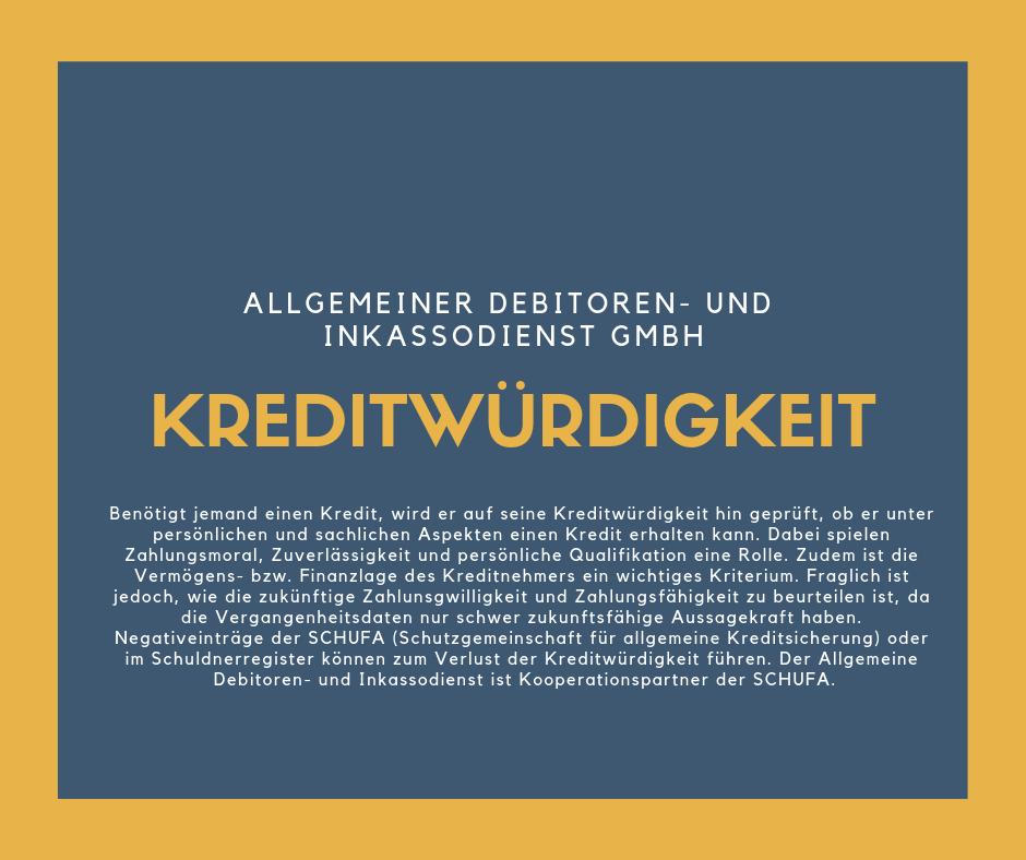 Allgemeiner Debitoren- und Inkassodienst GmbH kreditwürdigkeit