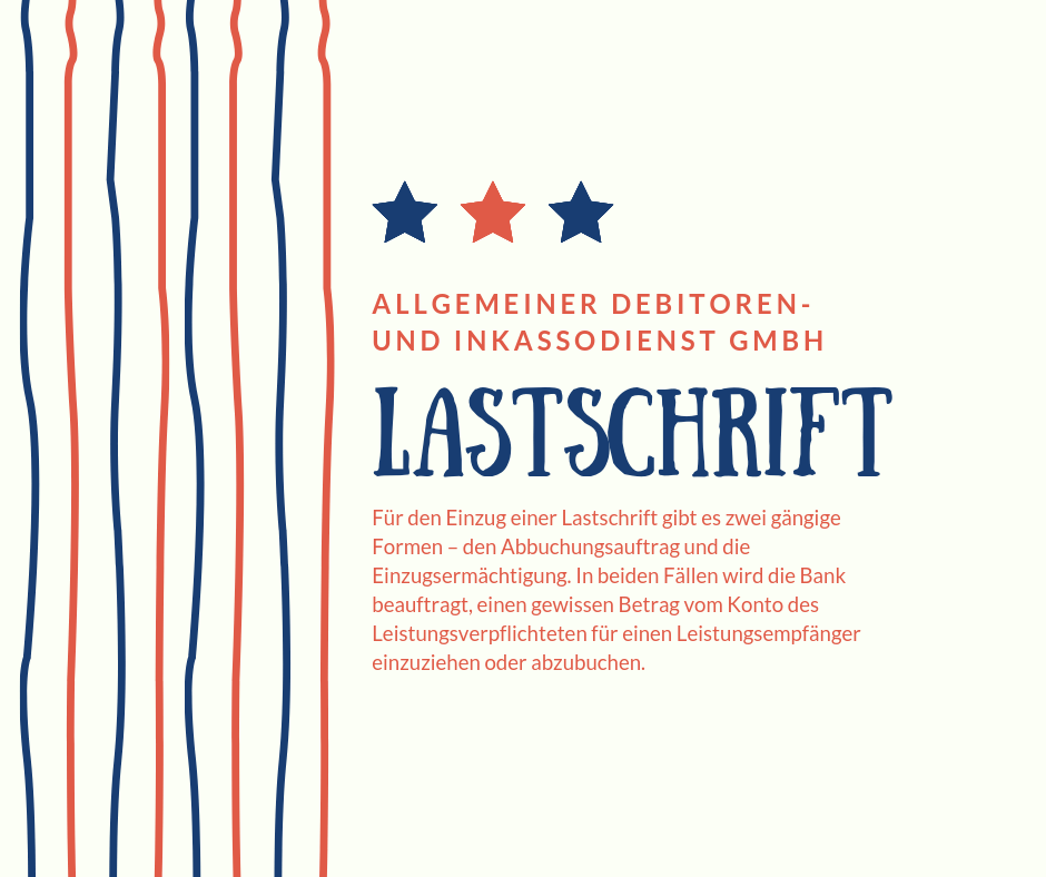 Allgemeiner Debitoren- und Inkassodienst GmbH lastschrift