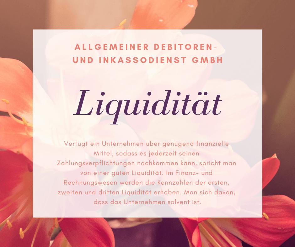 Allgemeiner Debitoren- und Inkassodienst GmbH liquidität