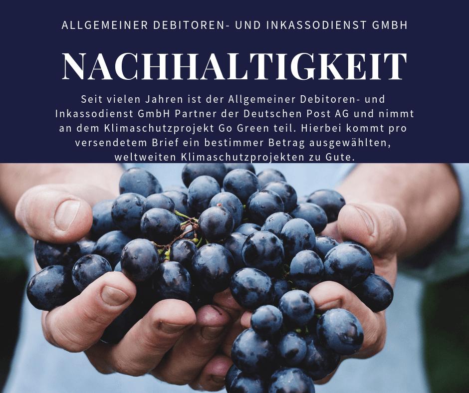 Allgemeiner Debitoren- und Inkassodienst GmbH nachhaltigkeit