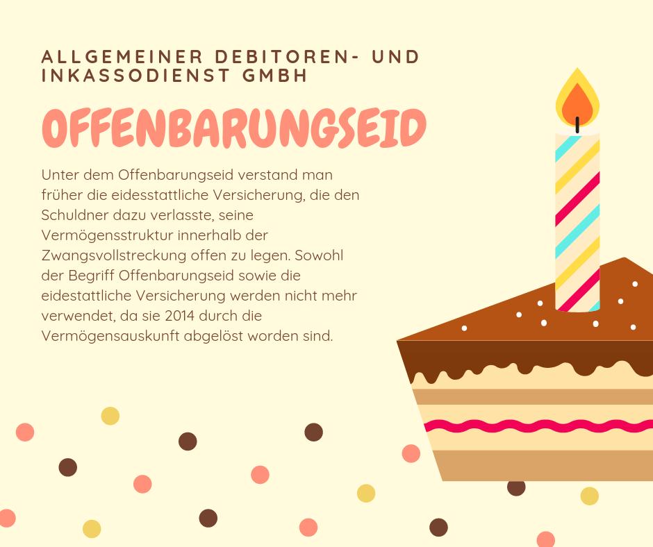 Allgemeiner Debitoren- und Inkassodienst GmbH offenbarungseid